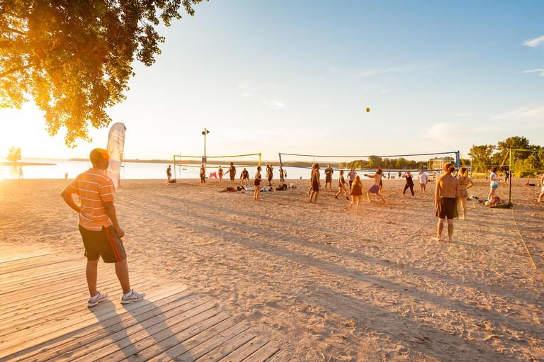 Summer evening at Britannia Beach, Ottawa, Canada
