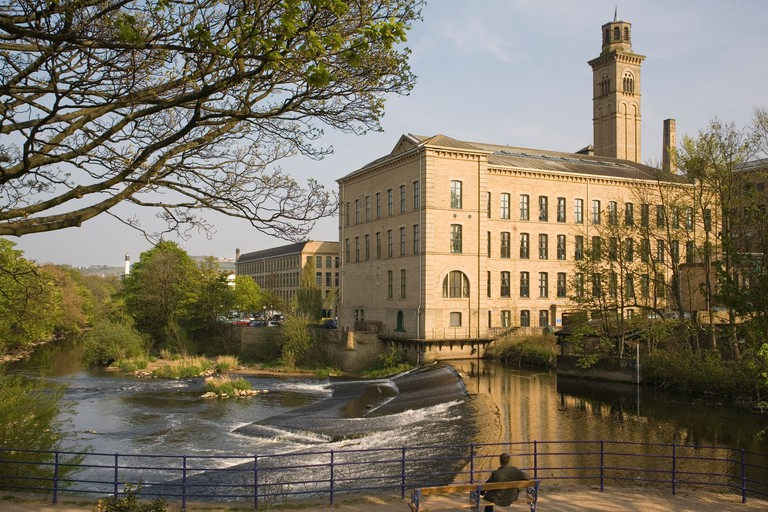 England Yorkshire Shipley Saltaire mill & River Aire