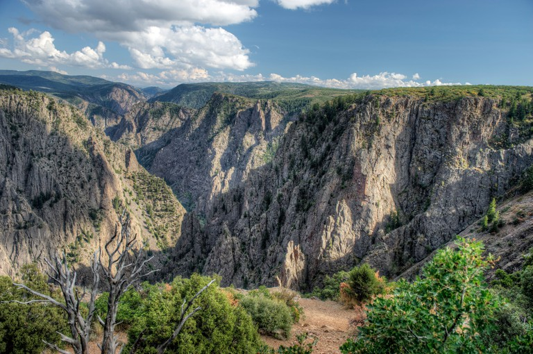Tomichi Point overlook, Black Canyon Of The Gunnison National Park, south rim