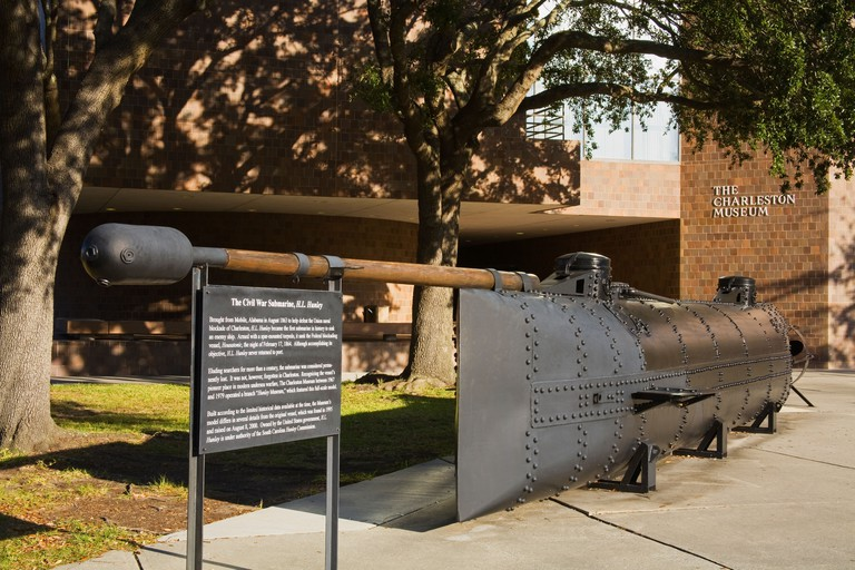 H L Hunley Civil War Submarine Replica The Charleston Museum Charleston South Carolina USA