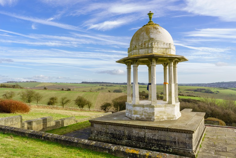 The Chattri First World War Memorial on the South Downs near Brighton East Sussex England, in memory of the fallen soldiers from the Indian continent.