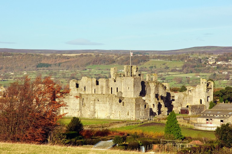 Middleham Castle between Wensleydale and Coverdale North Yorkshire