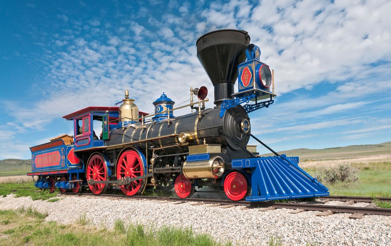 Utah, Golden Spike National Historic Site, meeting place of Union Pacific and Central Pacific Railroads on May 10, 1869
