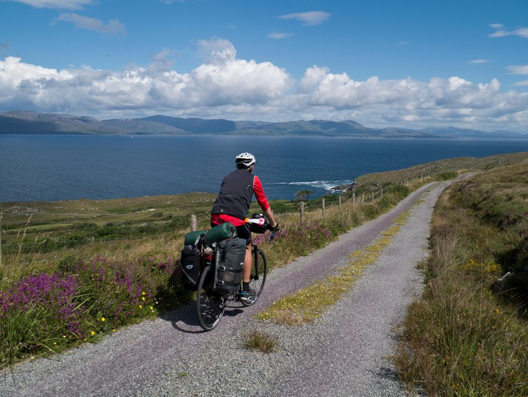 Cycling in Ireland. Image shot 08/2016. Exact date unknown.