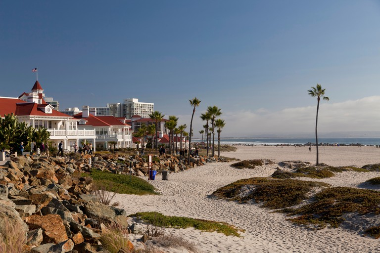 Hotel del Coronado at the beach on Coronado Island, San Diego, California, United States of America, USA