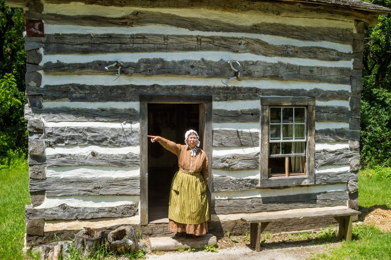 At the Fossebrekke Farm, Norwegian Area, Old World Wisconsin, which is an historic pioneer village.