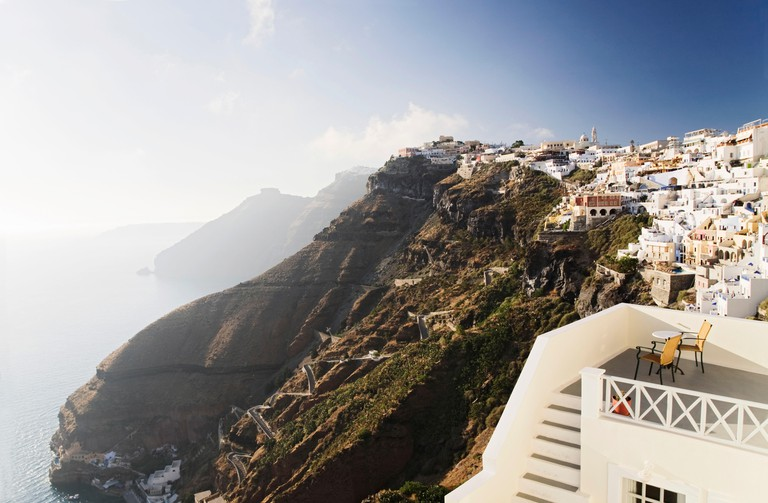 Fira, Santorini, Cyclades, Greece.