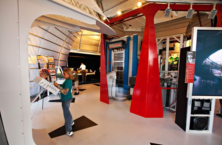 WISCONSIN Milwaukee Dream Machine exhibit in technology section of Discovery World museum at Pier Wisconsin