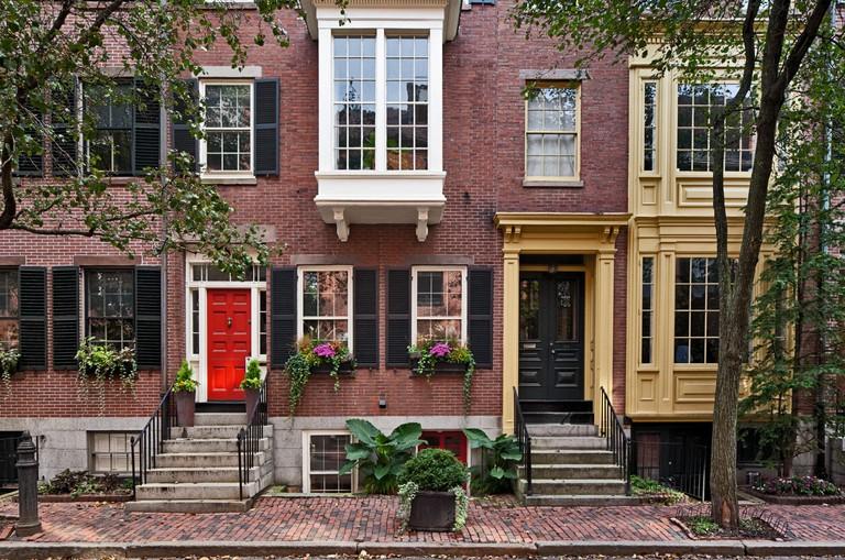 Luxury apartments in Beacon Hill, Boston, Massachusetts.