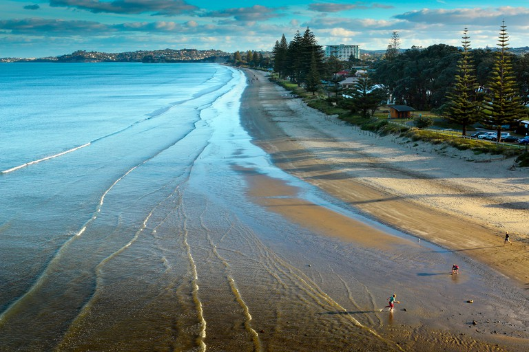 Scenic view of Orewa Beach north of Auckland
