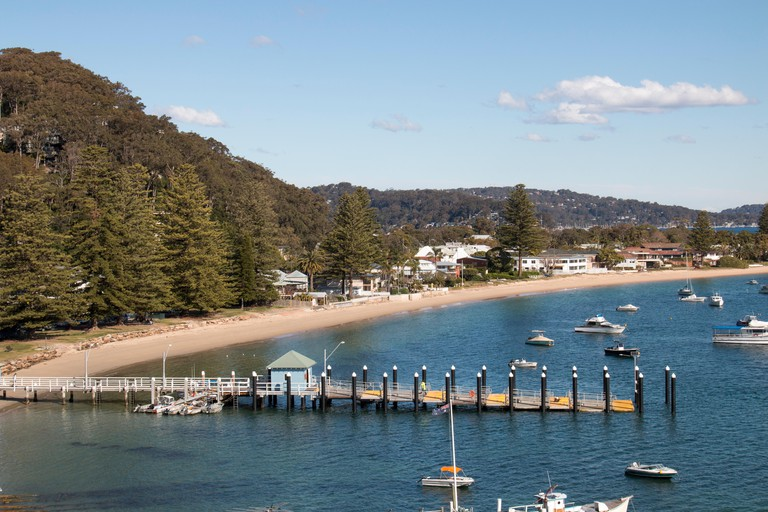 view of Pittwater from Palm beach Sydney,new south wales,australia