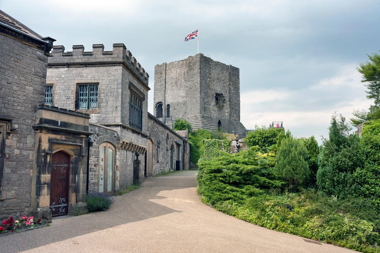 Clitheroe Castle, showing the keep, Lancashire, UK