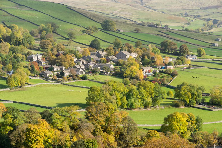Appletreewick village in Wharfedale, The Yorkshire Dales, England.