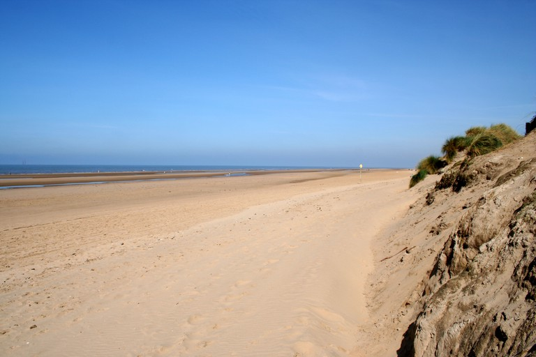 Beach at Formby Point, Liverpool.