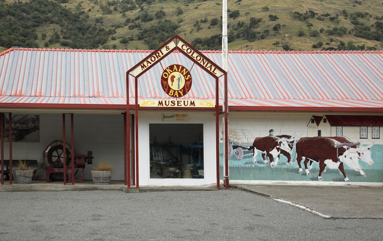 the maori and colonial museum at okains bay on the coast of new zealand