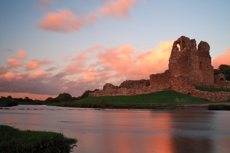 Ogmore Castle, Glamorgan, Wales.
