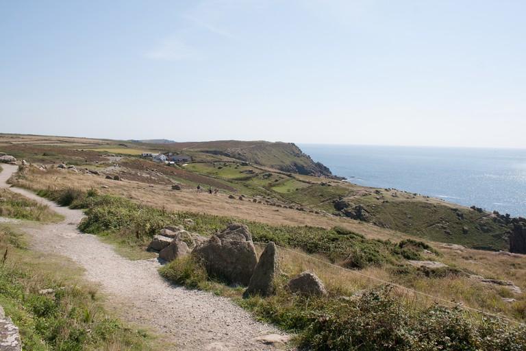 The cliffs around Lands End, Cornwall