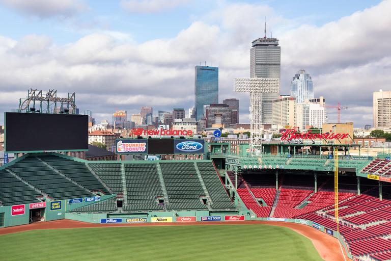 Boston Skyline from Fenway Park, Boston, Massachusetts