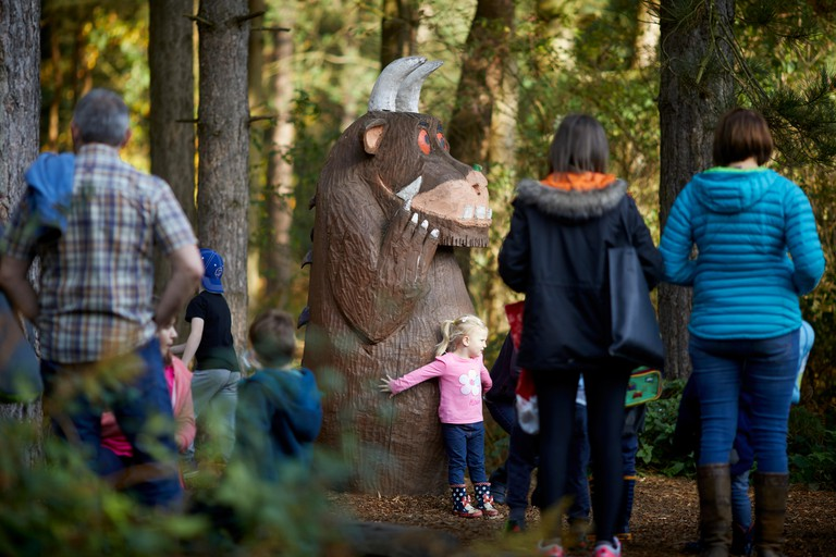 Gruffalo at Forestry Commission managed Delamere Forest Park  large wood near Frodsham, Cheshire, England.