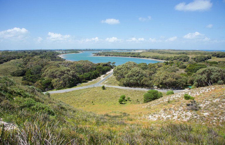 Lakes and seascape at Rottnest Island in Western Australia