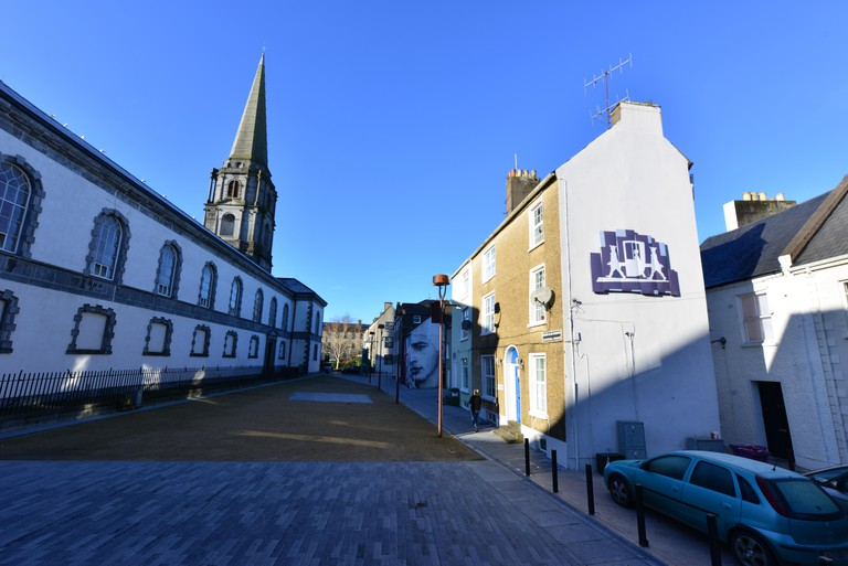 Cathedral Square in winter at Waterford City within the Viking triangle.