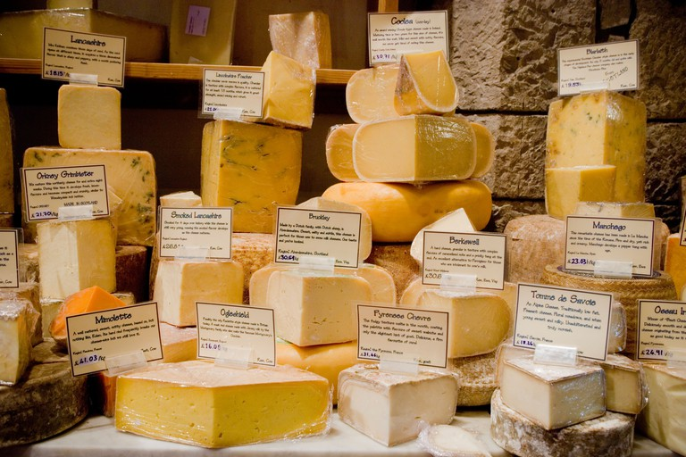 I J Mellis Cheese Shop Edinburgh Scotland. Image shot 2008. Exact date unknown.