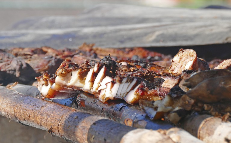 Close-up Of Jamaican Jerk Pork