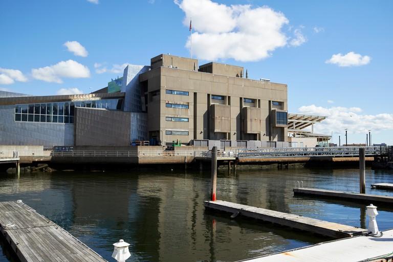 New England Aquarium Boston waterfront USA