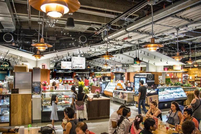 Inside Boston Public Market, Boston MA, USA