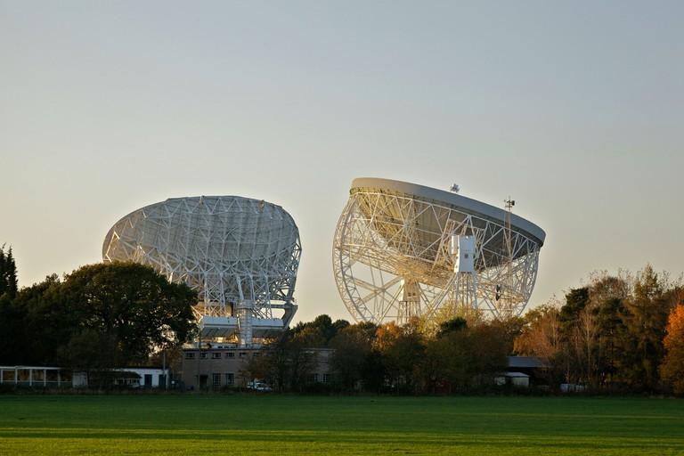 Jodrell Bank radio telescopes at Goostrey.