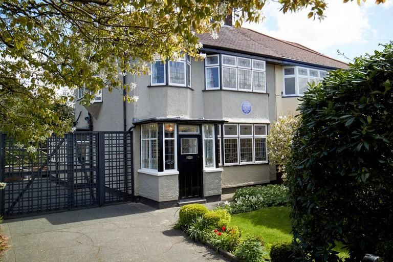 John Lennons childhood home mendips 251 melove avenue  liverpool merseyside england uk