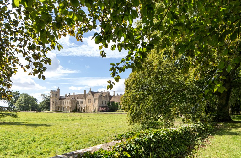 Lacock Abbey in the village of Lacock, Wiltshire, England, UK