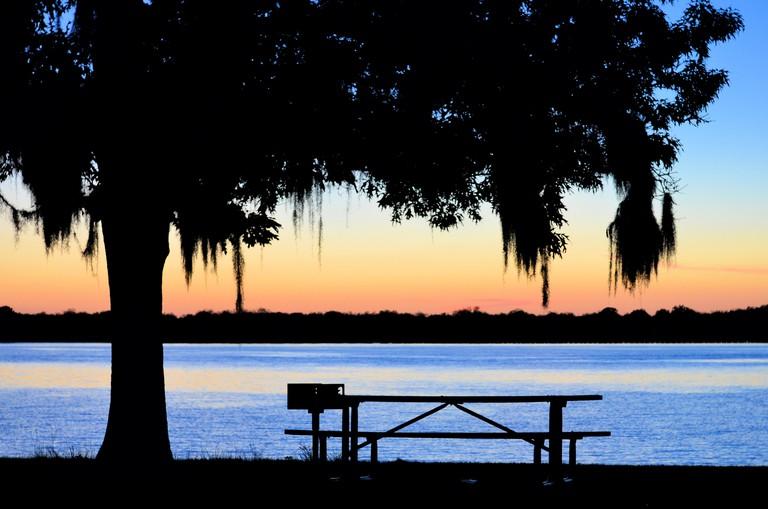 Sunset at park on Lake Blackshear