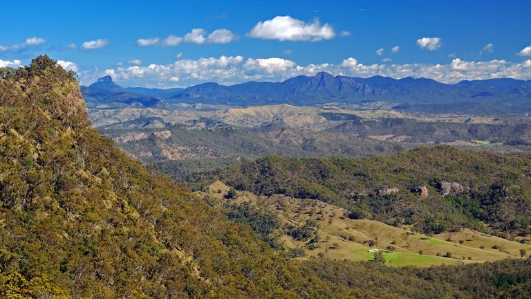 View over the mountains in the Lamington National Park, Australia