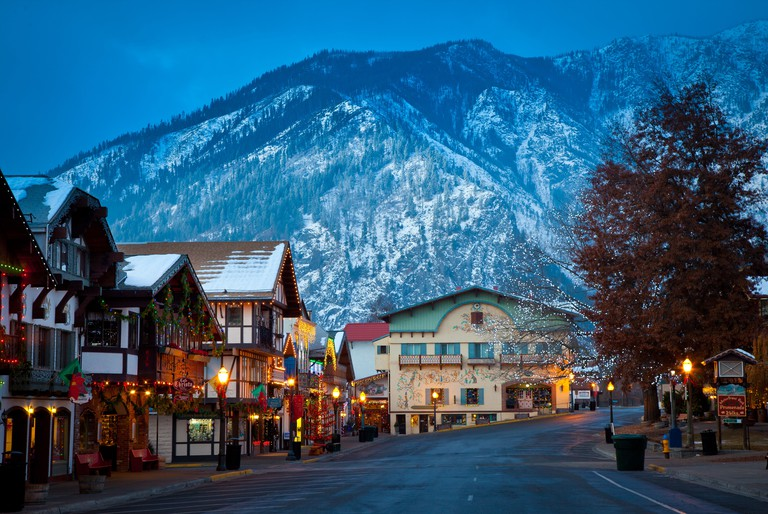 Christmas lights in the western Washington town of Leavenworth