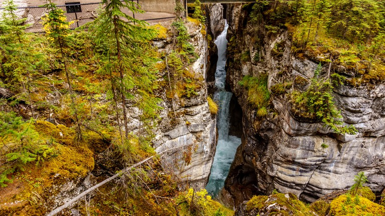 Maligne Canyon in Jasper National Park in the Rocky Mountains