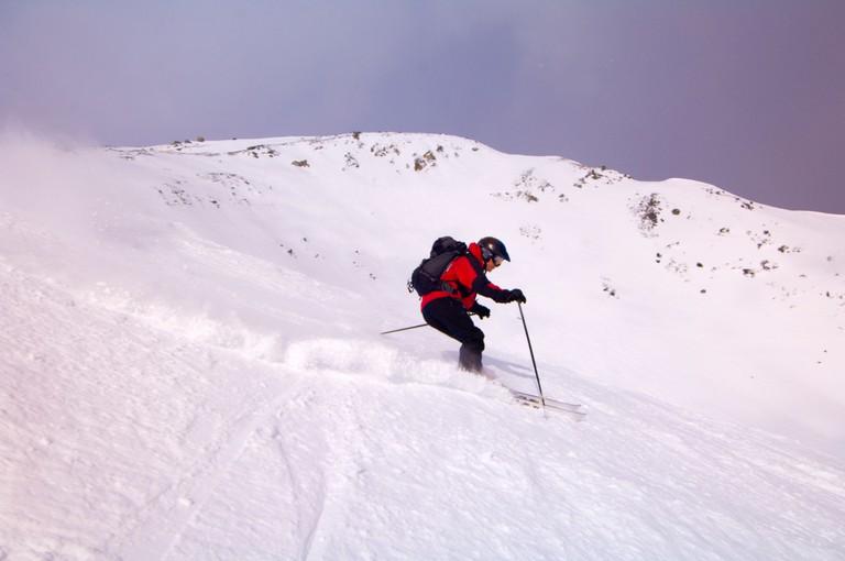 Skiing at Marmot Basin near Jasper Jasper National Park Alberta Canada
