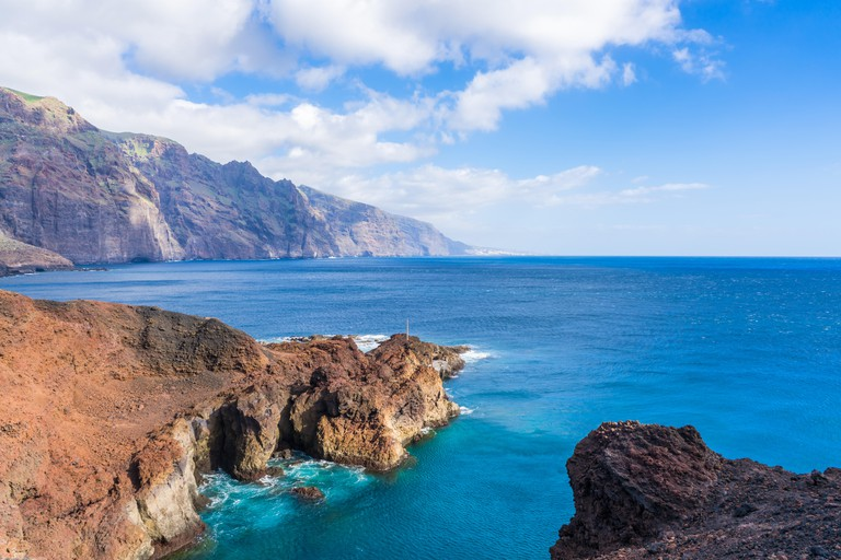 View of coast and sea - playa Punta de Teno in Tenerife, Canary Islands