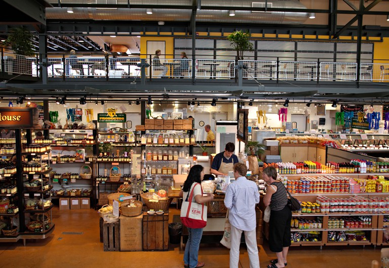 WISCONSIN Milwaukee Interior of Milwaukee Public Market indoor food and produce venue in Third Ward