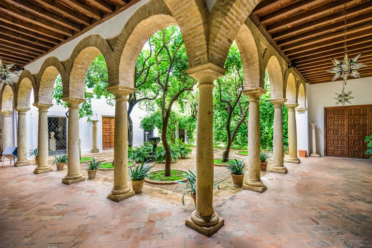 Viana Palace at the courtyard gardens in Cordoba, Spain.