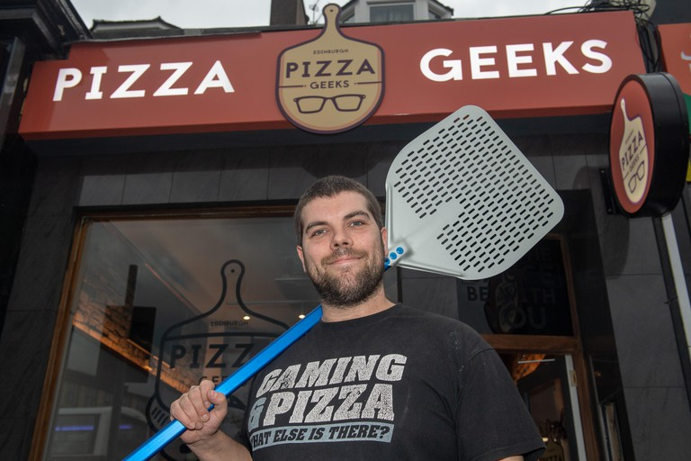 Pizza Geeks Co-Founder Patrick Ward, Dalry Rd Store