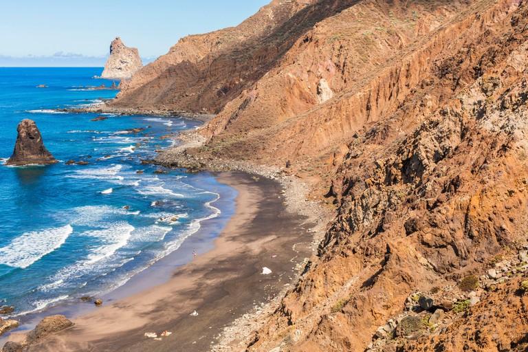 Spain Canary Islands Tenerife Island Anaga Rural Park playa Benijo