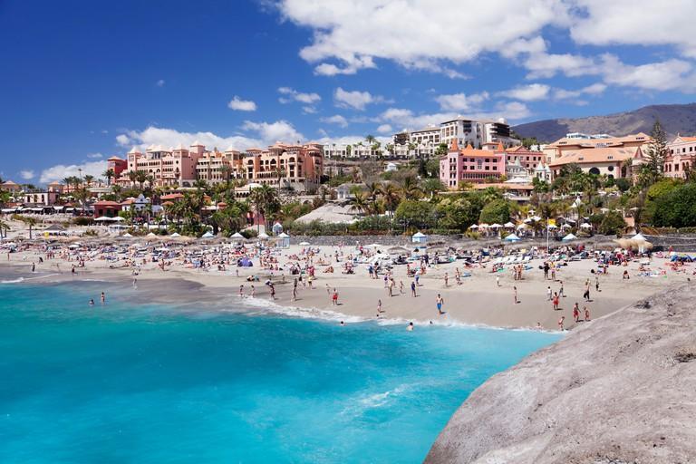 Playa del Duque beach, Costa Adeje, Tenerife, Canary Islands, Spain