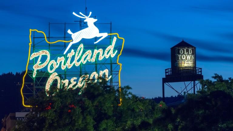 City Lights in Portland Oregon