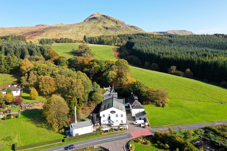 Glengoyne Stirlingshire 10 October 2018. Autumn colours and bright sunshine at Glengoyne Distillery Kilearn. Credit Alan Oliver / Alamy Live News
