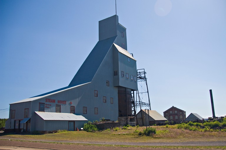 The Quincy Mine and Hoist historic copper mining site in Hancock Michigan
