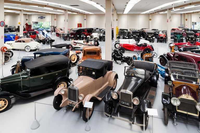 New Zealand, North Island, Otaihanga. Southward Car Museum, interior