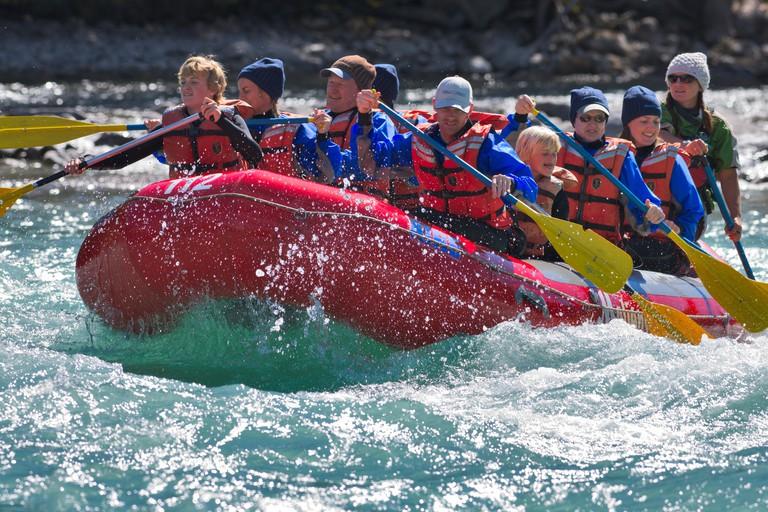 River Rafting in Jasper National Park, Canada
