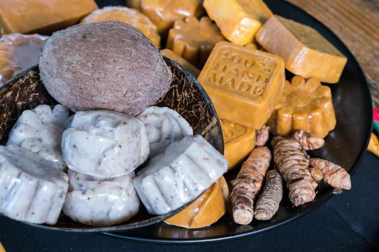 Jamaica Montego Bay, Rastafari Indigenous Village, handmade organic soap