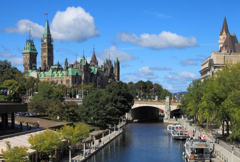 Canada, Ontario, Ottawa, Parliament, Rideau Canal,